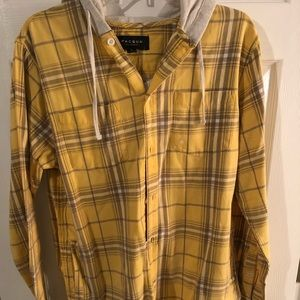 PacSun Hooded Flannel Shirt